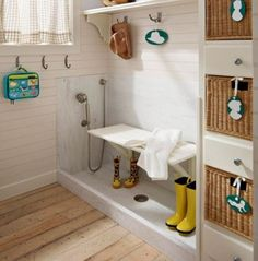Mudroom Dog wash station- from Neat Method. I need this!