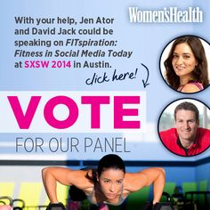 Vote for our #SXSW panel and help us spread our message of #fitspiration! http://panelpicker.sxsw.com/vote/24348