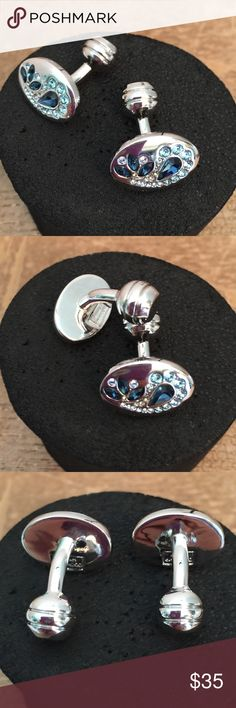 Duchamp London Rhodium plated Swarovski Crystals. Rhodium plated & Swarovski Crystals.  $155 Duchamp London 💎 Duchamp London  Accessories Cuff Links