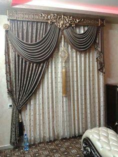 kaliakoir curtain Curtains With Blinds, Home Curtains, Curtains Living Room, Elegant Curtains, Ceiling Decor, Curtains, Curtain Styles, Curtain Decor, Classic Curtains