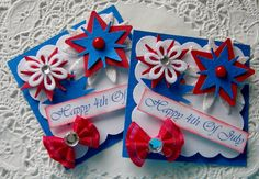 4th Of July Paper Embellishments on Etsy, $4.29