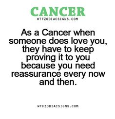 As a Cancer when someone does love you, they have... - fun zodiac ...