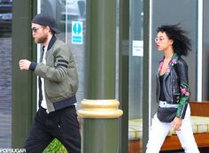 Robert Pattinson & FKA Twigs in Manchester England for the Manchester International Festival, where Twigs performed.
