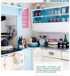 Wonderful retro kitchen. inspirational-interiors-kitchen