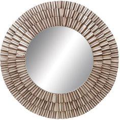 """Bayden Hill Metal Wood Mirror 41""""D"""