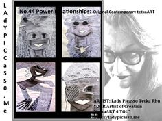 """tetkaART Investors and Art Patrons please note:  Power Relationships: No 44 of 700 Investment Certificate Authenticated No. Edition Original Collectors tetkaART SOLD  ARTIST: Lady Picasso Tetka Rhu YOUR Artist of Creation """"tetkaART 4 YOU"""" http://ladypicasso.me http://tetkaart.com  #tetka #arts #artist #investments #Sold #artpatrons #entrepreneurs #money"""