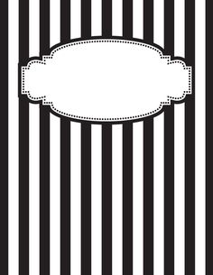 Free printable black and white striped binder cover template. JPG and PDF versions available. School Binder Covers, Binder Cover Templates, Notebook Covers, Borders And Frames, Cover Pages, Green Stripes, Free Printables, Coloring Pages, Creations