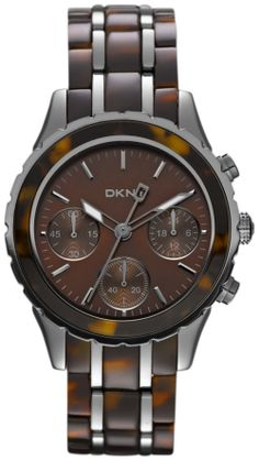 Dkny Women s NY8709 Two-Tone Resin Analog Quartz Watch with Brown Dial Review Buy Now