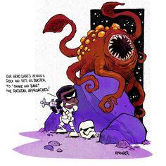 Spaceman Finn (Calvin and Hobbes and Star Wars mashup) - by Brian Kesinger - #2
