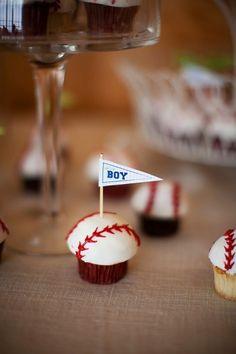Baseball Baby Shower by Michelle of MB Wedding Design and Events via www.babyshowerideas4u.com #babyshowerideas4u