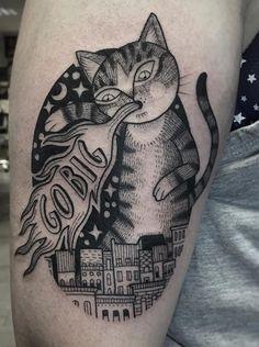 Susanne Konig cat tattoo