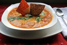 Gluten Free Crockpot Chicken Enchilada Soup Recipe