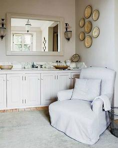 armchair in the bathroom