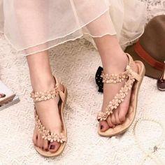 901d7726d8ba Julie Floral Flat Sandal ⟛  sandals  lookoftheday  bohemian  boho  bohochic