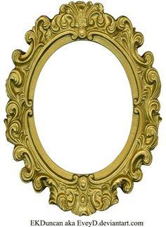Ornate Gold Frame - Oval 1 by EveyD on DeviantArt Antique Picture Frames, Antique Pictures, Vintage Frames, Molduras Vintage, Printable Frames, Borders And Frames, Borders Free, Frame Clipart, Oval Frame