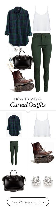 Outfit casual, jeans verde militar, blusa blanca, camisa a cuadros verde y azul, botas cafés.