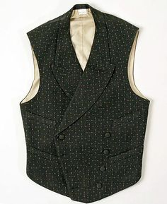 Vest  Date: 1890–1909 Culture: American Medium: wool, cotton Dimensions: [no dimensions available] Credit Line: Gift of Mrs. Lee Woodward Zeigler, 1952 Accession Number: C.I.X.52.16.4  This artwork is not on display    Share  Add to MyMet