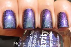 piCture pOlish LE 'Gravity' layered over black and swatched by More Nail Polish!  Available soon: www.picturepolish.com.au