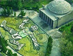 Parque de Chapultepec ciudad de  Mexico, Fuente Tlaloc de Diego Rivera
