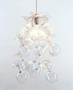 Very pretty wine glass chandelier