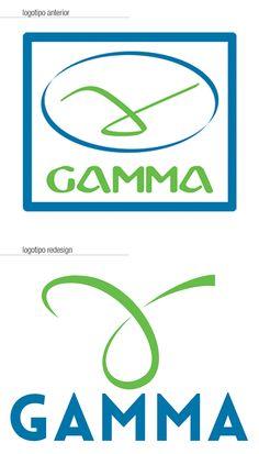 Redesign do logotipo Gamma.
