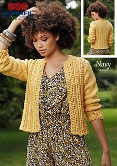 #Adriafilyarns #Navy http://bit.ly/AdriafilNavyUK... Good morning happiness with this little jacket! Click here for the pattern:http://bit.ly/AdriafilNavy_VeronicaCardigan