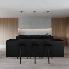 Artem Trigubchak is an Architecture and Interior Design practice based in Kiev and working worldwide. Old Kitchen Tables, Kitchen Dinning Room, Kitchen Layout, Dining, Minimal Kitchen Design, Minimalist Kitchen, Style Loft, Cocinas Kitchen, Interior Architecture