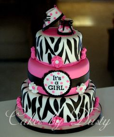Baby Girl Shower Cake