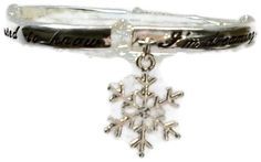 Silver Snowflake Bracelet White Christmas by CreationsByJanetUSA, $18.00 #teamdream