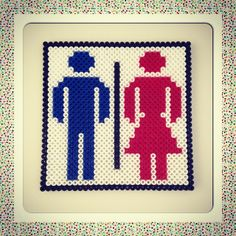 Toilet sign hama perler by katrineo84