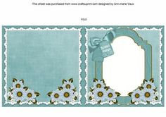 Daisies Belated Wishes To fit 6in Folded Insert on Craftsuprint - Add To Basket!