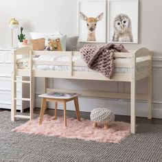 Twin Bebble Modern Bunk Beds Pure White And Exotic Light Wood - South Shore : Target Cute Bedroom Decor, Cute Bedroom Ideas, Room Ideas Bedroom, Small Room Bedroom, Diy Bedroom, Toddler Loft Beds, Low Loft Beds For Kids, Wood Twin Bed, Modern Bunk Beds