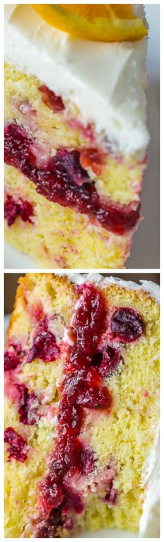 Cranberry Orange Cake ~ Moist and Fluffy... Perfect for the holidays.