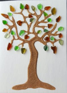 Bunch Of Branches by SeaglassArtNS on Etsy 25+ Pieces Of Multicolored Seaglass.  #seaglass #beachglass #tree #art #novascotia #homedecor