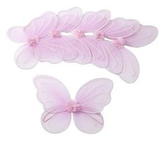 Butterfly Craze ® 6 Pink Fairy Butterfly Wings Dress-up Party Favor Packages for Girls Toddlers and Kids