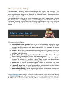 Educational Portal- For All Purpose