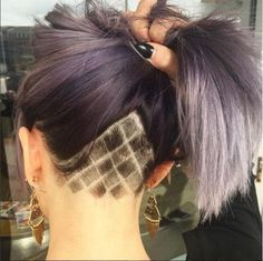 Checkered Lines - Undercut Hair Designs For The Most Bold And Badass Ladies - Photos