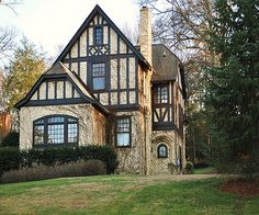 Home of Bill Lowe (Atlanta)  c. 1910 a Tudor adaptation with an asymmetrical design