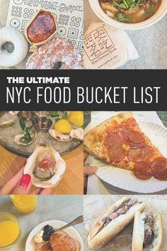 Ultimate New York City Food Bucket List with 99 Amazing Places to Eat in NYC // Local Adventurer #seeyourcity #newyorkcity #nyc #newyork #iloveny