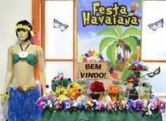 festa havaiana mesa