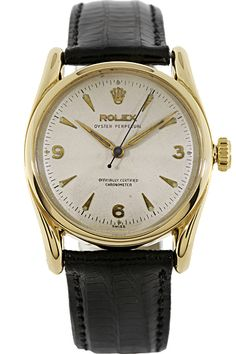 Rolex Vintage 1950 18k Yellow Gold Oyster Perpetual Mens Automatic Watch 6090