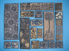 Lino printing plates by our printing expert Karen Edwards