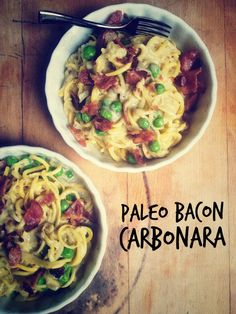 Bacon Carbanara Pasta. i'd be curious about it having a coconut flavor