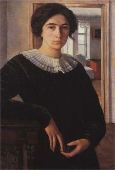 Portrait of E.K. Lancere, 1911  Zinaida Serebriakova