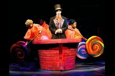 Willy Wonka: The Musical Set Design Charlie Chocolate Factory, Wonka Chocolate Factory, Summer Camps For Kids, Camping With Kids, Willy Wonka Factory, Willy Wonka Costume, James And Giant Peach, Drama For Kids, Kids Stage