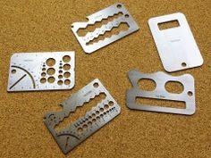 Steel credit card tool set Tuls   Family