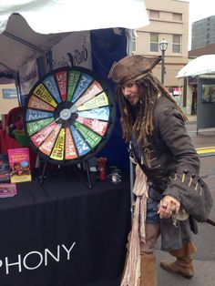 Arrrghh! Visit Captain Jack and our prize wheel today at the St. Louis Art Fair in Clayton! Tag your photos for the chance to win 4 tickets to Pirates of the Caribbean Sept. 19-21! Buy this Prize Wheel at http://PrizeWheel.com/products/tabletop-prize-wheels/tabletop-black-clicker-prize-wheel-18-slot/