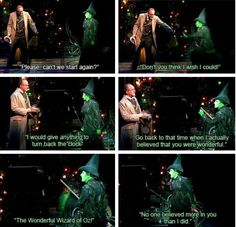 WE BELIEVED IN YOU MAN!!! I love Elphaba!!!!!!!!! Wicked