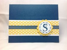 Initial note card by Susan Itell, Simple Stampin'