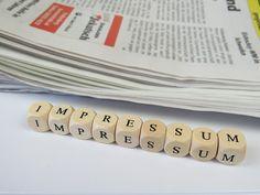 Impressum, Webdesign, Recht, Zeitung, Webseite